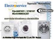 Servicio técnico de lavadoras klimatic lima ++6687591++