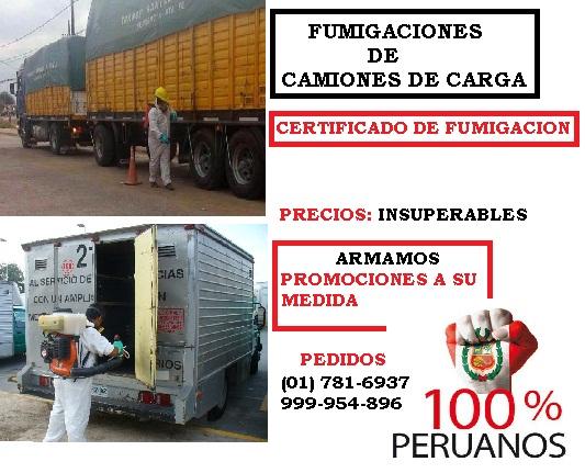Fumigaciones de camiones y furgoneta
