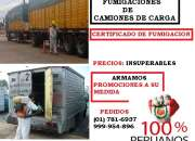 fumigaciones de camiones, certificado de fumigacion para camiones