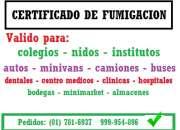 certificado de fumigacion para empresa, certificado de fumigacion de camiones