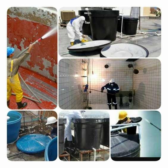 Lavado y desinfeccion de tanques de agua