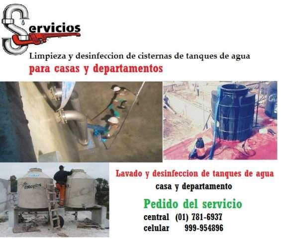 Lavado y desinfeccion de cisterna