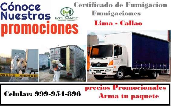 Fumigaciones de camiones