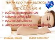 Terapia fisica a domicilio profesional?942742227 lima