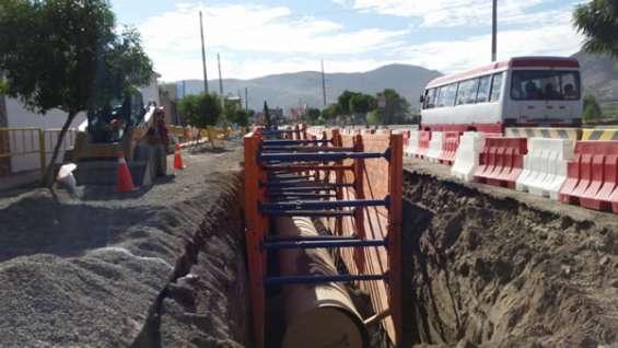Excavaciones y entibados obras de saneamiento perú