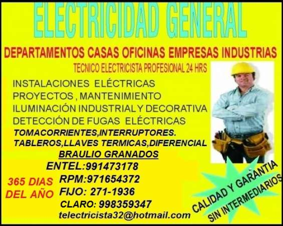 Electricista jesus maria domicilio amperio 991473178 - 971654372