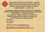 INGENIERO ELECTRICISTA COLEGIADO HABILITADO ELABORA FIRMA PLANOS ELECTRICOS