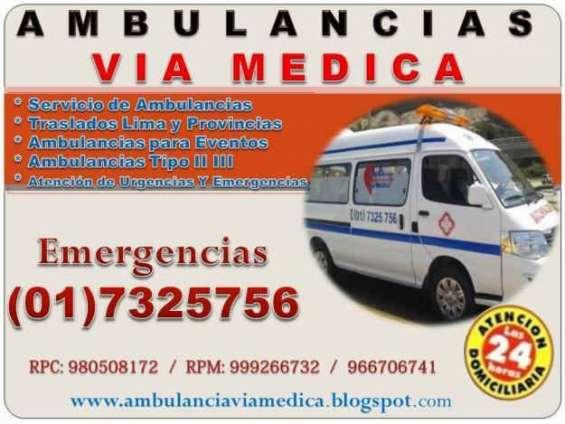 Servicio de ambulancias via medica