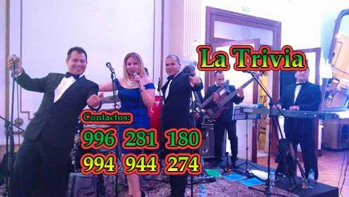 Orquesta la trivia cel. 996 281 180