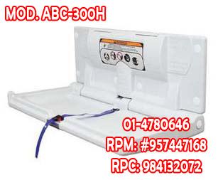 Cambiador de pañal horizontal marca world dryer