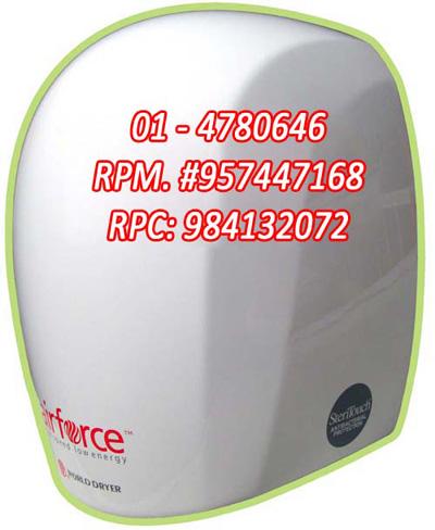 Secador de manos airforce j4 marca world dryer