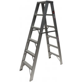 Escalera de aluminio doble acceso