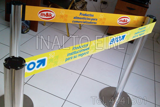 Ordenador de cola con cinta retractil - 10 centimetros de ancho
