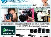 Servicio tecnico reparacion camaras, filmadoras, lentes, etc todo modelo y marca. gopro