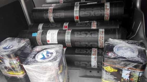 Membrana asfaltica gravillada, arenada, aluminizada y liso. tef, 7820233.