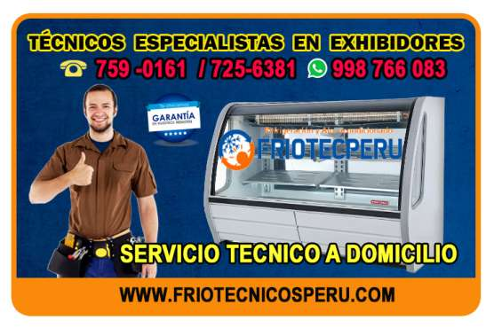 Profesionales en refrigeración (máquinas exhibidoras) *7256381* servicio técnico