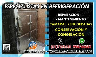 Reparación y mantenimiento de refrigeración (cámaras frigoríficas) en callao