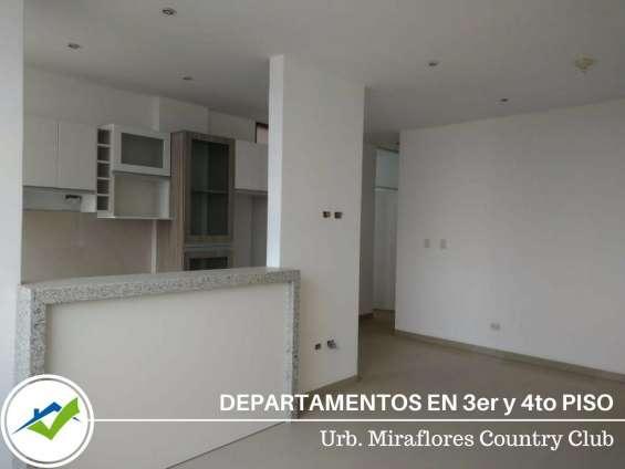 Departamentos 3er y 4to piso - urb. miraflores country club, piura